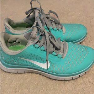 Tiffany blue Nike Free's